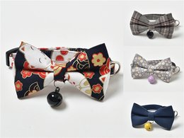 bandana scarf dog collar wholesale UK - Adjustable Dog Collars Puppy Pet Bowknot Collar Bandana Fashionable High Quality Cotton New Dog Scarf Wholesale 80 1 Pcs Lot Mix 40 Color #57