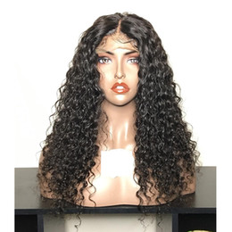 european glueless human hair wig Australia - 150% Full Lace Human Hair Wigs Deep Wave Pre-Plucked Glueless Lace Front Wigs With Baby Hair Brazilian Lace Wig For Black Women