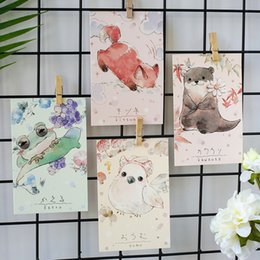 $enCountryForm.capitalKeyWord Australia - Coloffice 30PCs Box Kawaii Cartoon Animal Letter Postcard Envelop Card Gift For Children Cute Stationery Office School Supplies