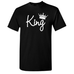 $enCountryForm.capitalKeyWord Australia - White King Crown Men's T-shirt High Quality Brand New Tee 2019 Summer New Fashion Brand Tshirt Solid Color Short Sleeve Casual cheap