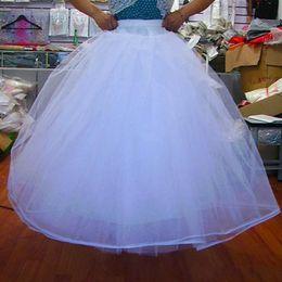 Cheap Petticoats Underskirt 4 Layers NO Hoop Net Petticoat Wedding Dress Ball Gowns A Line Crinoline Quinceanera Dresses Wedding Accessories on Sale