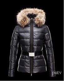 Raccoon Hooded Parka Coats Australia - 2019 New top quality Women Winter M Duck Down Coat 100% Real Large Raccoon Fur Collar M Down Jacket Hooded Waist Thick Duck Down Parkas