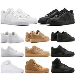 high top running shoes for women 2019 - Top Sale Brand discount One 1 Dunk Running Shoes For Men Women Sports Skateboarding High Low Cut White Black Wheat Train