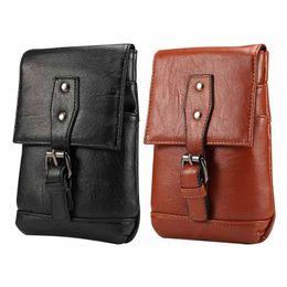Handbag for ipHone mini online shopping - Universal Casual Mini inch Phone Bag Hanging Neck Messenger Bag PU Leather Case Pocket Lanyard Card Slot Shoulder Pouch