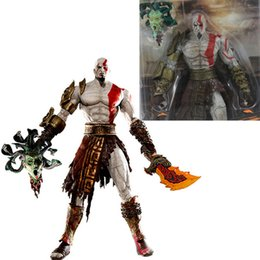 god war figures NZ - 19cm Neca God War Kratos In Golden Fleece Armor With Medusa Head Pvc Action Model Figure Doll Toys With Box Y190604