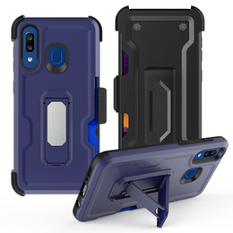 Discount alcatel hard phone cases Holder Stand Phone Case for Samsung Galaxy Note 10 pro Alcatel 3V 2019 Hard PC Shockproof Kickstand Back Cove 200 pcs at