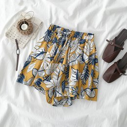 $enCountryForm.capitalKeyWord Australia - Shorts Women Loose All-match Trendy Simple Printed Korean Style Daily Leisure Solid Ladies Womens New Lovely Bow 2019 High Waist