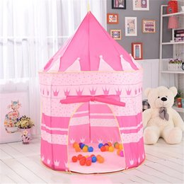 pink tent kids NZ - Pink Play Tent Portable Foldable Folding Tent Children Play House Kids Gifts Outdoor Toy Tents