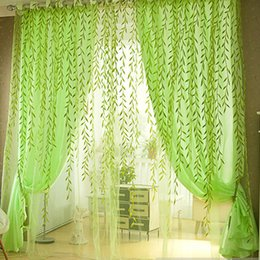 Pastorale Style Tulle Rideaux Pour Chambre Salon Décor Saule Floral  Imprimer Fenêtre Balcon Gaze Voile Rideaux Sheer Rideaux