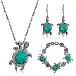 bracelets cute animal 2019 - Creative Animal Design Tortoise Jewelry Sets For Women Exquisite Turtle Necklace Pendant Earring Bracelet Cute Love Gift