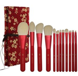 Wholesale Best selling Set Makeup Brushes high quality nylon wool soft and skin friendly with printing Brush package