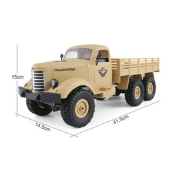 helicopter military UK - JJR C Q60 1 16 2.4G 6WD RC Off-Road Military Truck Transporter RC Car Remote Control Vehicle for Children Gift Kids Toy