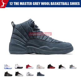 Master Gold Australia - 12 the master grey wool basketball shoes 2019 Wings Taxi Flu Game Sports Sneakers 12s OVO Metallic Gold White Mens Athletics Shoe