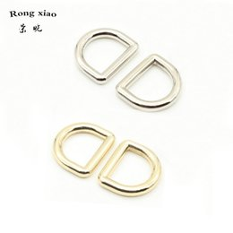 $enCountryForm.capitalKeyWord Australia - 1 2 inch Inside Dia Metal D-Rings For Handbag Purse Project 13 mm Nickel Gold Welded Iron Rings for Straps Bag Accessories