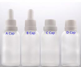 Tamper boTTles online shopping - 1OZ ml Frost Glass Bottles For Dropper Essential Oil E Liquid Bottle with Tamper Lids