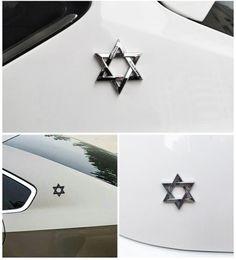 $enCountryForm.capitalKeyWord Australia - Car styling Car Decoration Hexagram Six Pointed Star Stickers Logo Metal 3D Aluminium Emblem Badge Decal Auto Auto Styling Car Accessories