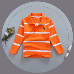 Boys Polo Tops Australia - good quality 2019 new spring boys long sleeve shirt children outfits striped polo shirt tees kids clothes cotton children sport tops