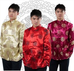 Chinese Traditional Shirts For Men Australia - Shanghai Story long sleeve tang suit Shirt traditional chinese mens jacket chinese kungfu Shirt mandarin collar jacket for man