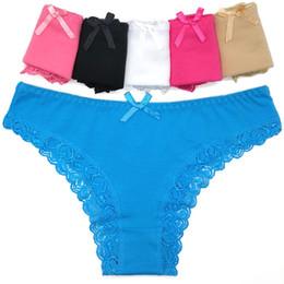 57edb177adf2 Yun Meng Ni Young Girls Sexy Solid Bikini Sweet Girl Briefs Women Cotton  Panties with Lace