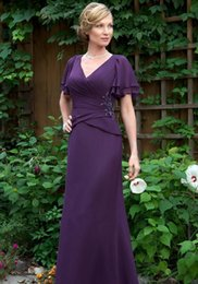 New Lace Appliques Beach Prom Dress Australia - Elegant Dark Purple Mother Of The Bride Dresses Long New 2019 Chiffon Ruched Beach Wedding Guest Dress Groom Mothers Prom Party Gowns