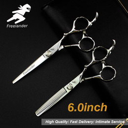 "$enCountryForm.capitalKeyWord Australia - 6.0""Sale Silver Japanese Hair Scissors Japan 440C Cheap Hairdressing Scissors Thinning Shears Hairdresser Shaver Haircut820-0"