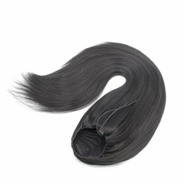 $enCountryForm.capitalKeyWord NZ - synthetic hair ponytail hairpieces clip in 24inch yaki straight hair 100g drawstring ponytail hair extension for black women