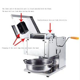 slicer dice Canada - 110V 220V Meat cutter Fast meat slicer electric commercial slicer shred automatic dicing machine stainless steel cut pieces