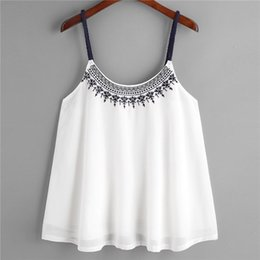 $enCountryForm.capitalKeyWord Australia - Sell Hot Fashion Womens Tops And Blouses Summer Sleeveless Tank Tops Embroidered Chiffon Cami Top Blouse Camicette Y18