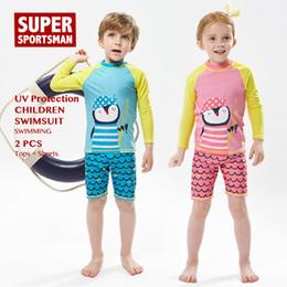 $enCountryForm.capitalKeyWord Australia - Boys Girls Cartoon Swinsuit Baby Rashguard Kids Surfing Swimwear Children Anti-UV Swim Suit Toddler Swimming Surf Beach Set