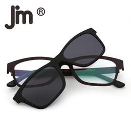 213ba97b3e9 Retro Square Polarized Magnetic Sunglasses Clip on Eyeglasses Casual Style  Fashion Frame Glasses for Men Women