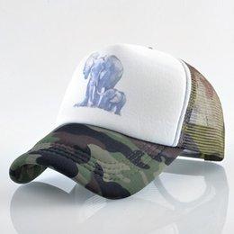 a830cb543a79d Designer Hats Trucker Caps With Elephant Printing Adjustable Snapbacks  Baseball Mesh Cap For Adults Mens Womens Summer Sun Visor