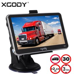 car gps europe maps NZ - XGODY 560 5 Inch GPS Navigation Car Truck Navigator 128M+8GB FM SAT NAV Navitel Russia Map 2018 Europe America Asia Africa Maps
