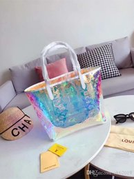 Colorful messenger bags online shopping - Fashion Des Bag Classic Women s Laser Colorful Shopping Tote NEW Brand Women s Casual Bag LouisVuittongucci Messenger Bag