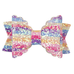 $enCountryForm.capitalKeyWord Australia - Unicorn Hair Bows Sparkly Glitter Clips for Girls Party School Hairpins Clip Hr Side Barrettes Kids Hair Accessories