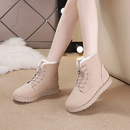 Snow Booties For Women NZ - 2019 Winter Super Warm Snow Boots Women Suede Ankle Boots For Female Winter Shoes Botas Mujer Plush Booties Shoes Woman
