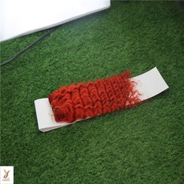 double weft human hair extensions Australia - The Fashion Red Color Remy Kinky Curly Hair Weaving 10-30 Inchs Double Weft Hair Extensions 100% Human Hair Weave