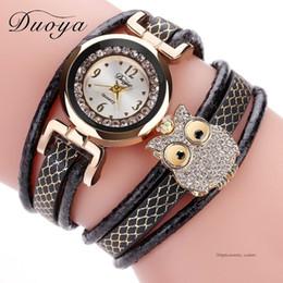 $enCountryForm.capitalKeyWord Australia - Duoya Brand Luxury Fashion Female Wristwatch Cute Owl Cheap Leather Straps Women Quartz Watch Bracelet Casual Ladies Clock