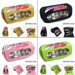 $enCountryForm.capitalKeyWord Australia - Anime Jojo's Bizarre Adventure Pencil Case Zip Canvas Pen Bag Makeup Bag Cosmetic High Quality Stationery Box Coin purse