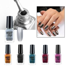 nail polish metal color 2019 - colorful Gel Metal Color Stainless Steel Mirror Silver Nail Polish for Nail Art Glitter Rainbow Gel Polish Painting #20.
