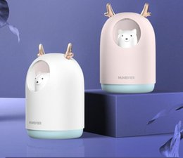 Wholesale Hot Sales Bear Humidifier Usb Fog Colorful Led Car Mini Mute Bedroom Office Home Air Atomizer
