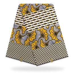 Ingrosso Nigeria Wax Hollandaise Aso Ebi Tessuto Ankara Africano di Alta Qualità Hojilou 100% Cotone Holland Wax Stampe Africano Trasporto Veloce