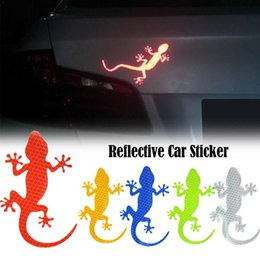 $enCountryForm.capitalKeyWord UK - 1PC Car Reflective Sticker Safety Warning Mark Reflective Tape Auto Exterior Accessories Gecko Strip Light Reflector
