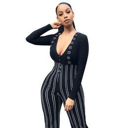 $enCountryForm.capitalKeyWord Australia - Newly Women High Waist Harem Pants Women Bowtie Elastic Waist Stripe Casual Jumpsuit rompers womens jumpsuit #20