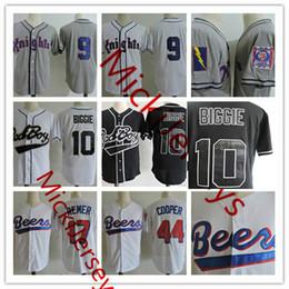 Wholesale #9 ROY HOBBS NEW YORK KNIGHTS THE NATURAL Baseball Jersey Doug Remer Joe Cooper BASEketball Beers Jersey 10 Biggie Bad Boy BASEBALL JERSEY