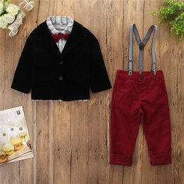 $enCountryForm.capitalKeyWord Australia - New Fashion Clothing Sets Boy Cotton Long Sleeved Pendant Bow Tie Shirt Pants Suit Children's Gentry Suit 2 4 5 6 7 8 Years Old