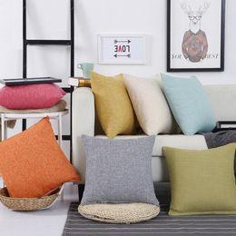 Wholesale zipper style cotton design online – oversize Nordic style Pillowcase Colors Pillow Case Double Face Pillow Cover Zipper Design Car Cushion Cover Home Sofa Decoration