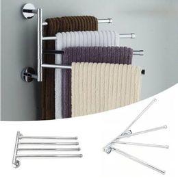 $enCountryForm.capitalKeyWord Australia - 2019 Sales Free shipping Towel Bar Rotating Bathroom Kitchen Wall-mounted Towel Polished Rack Holder