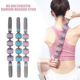 Venta al por mayor de M6 Multi-lados de masaje palo Yoga relajación rodillo palo músculo rodillo herramienta para deportes Fitness Yoga pierna brazo