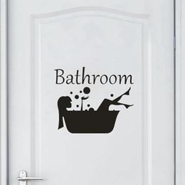Bathroom Wall Sticker Quotes Australia - Bathroom Wall Sticker Letter Removable Art Vinyl Mural Home Room Toilet Door Vinyl Decal Transfer Vintage Decoration Quote Art