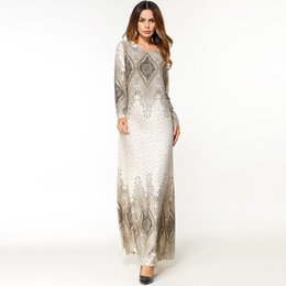 Wholesale middle eastern style dresses for sale - Group buy Women s National Robe Abaya Islamic Muslim Middle Eastern Long Dress Hot Sale England Style Women Dress Polyester Dresses C30501